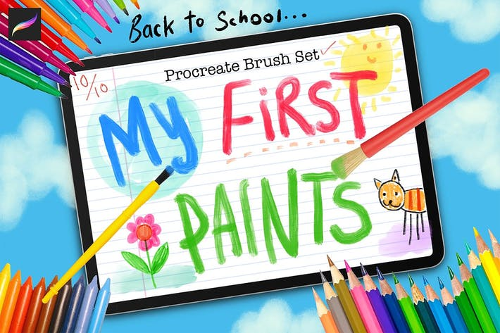 Thumbnail for My First Paints Procreate Brushes