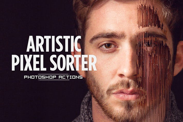 Thumbnail for Artistic Pixel Sorter - Photoshop Actions