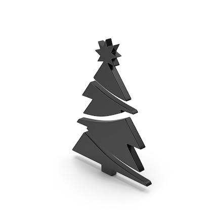 Árbol de Navidad con símbolo negro