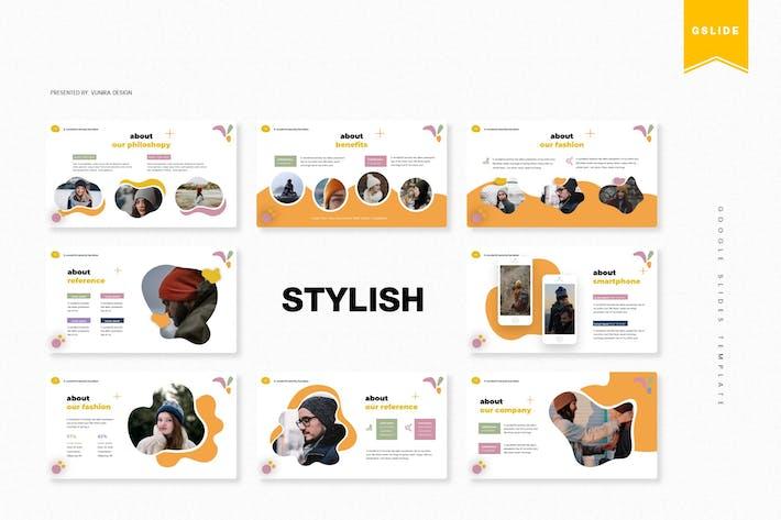 Стильный   Шаблон слайдов Google