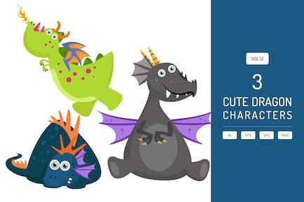 Personajes de dragón lindo Vol.12