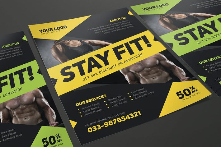 Cover Image For Modern Fitness Flyer