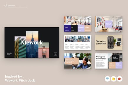 Wework Pitchdeck inspired Template