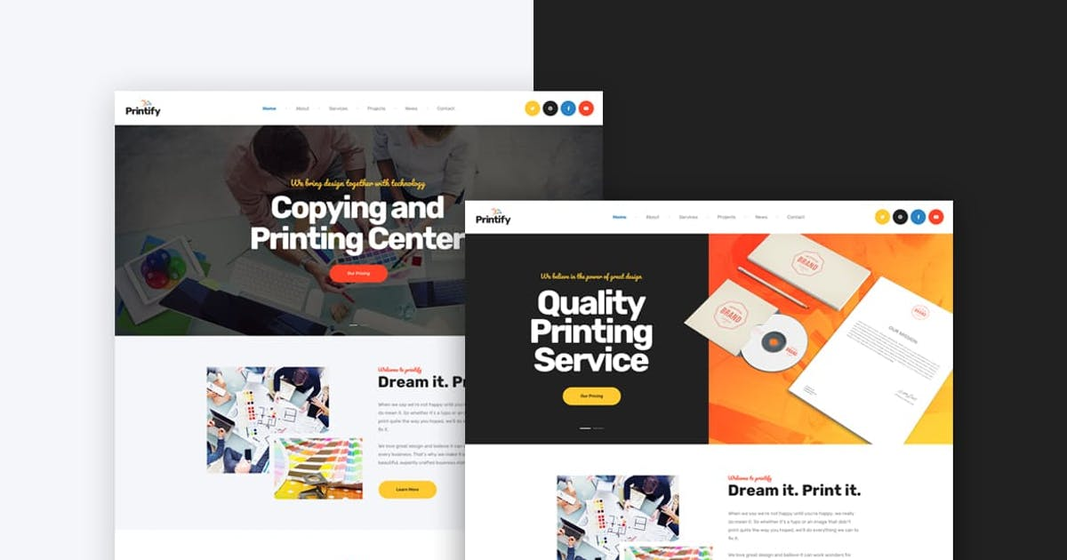 Download Printify - Printing & Copy Center HTML Template by Layerdrops