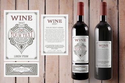 Étiquette de vin vintage