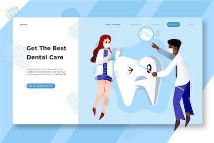 Dentist - Banner & Landing Page