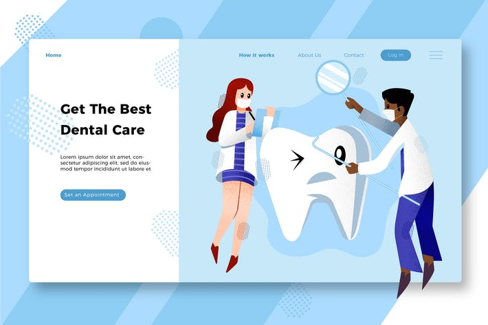 Thumbnail for Dentist - Banner & Landing Page