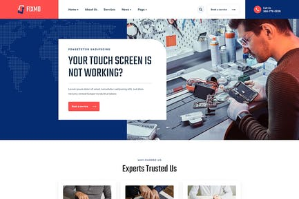 Fixmo – Smartphone Repair Services HTML Template