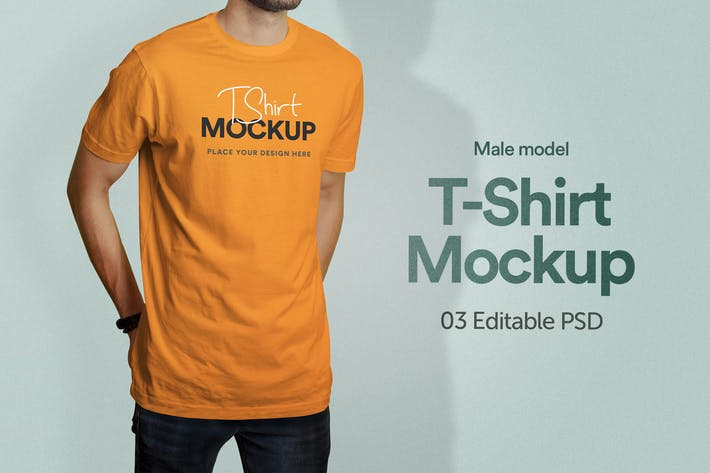 Thumbnail for T-Shirt Mockup - Band 03