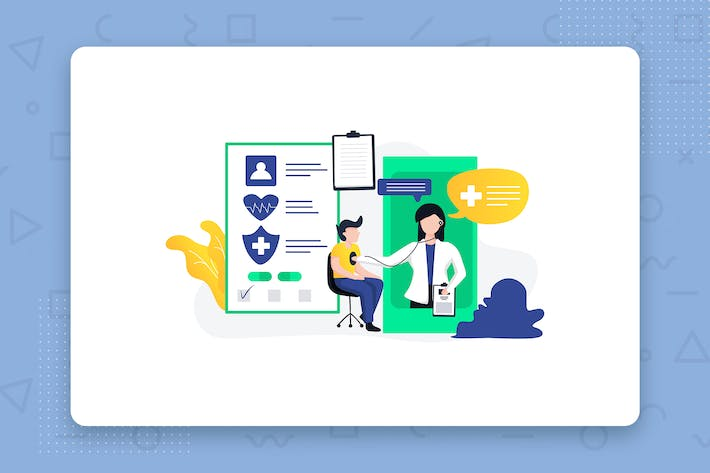 Thumbnail for Healthcare flat vector illustration concept