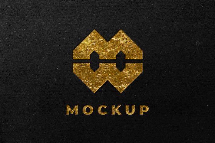 Schwarz Gold-Logo-Mockup