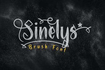 Sinelys Brush Font