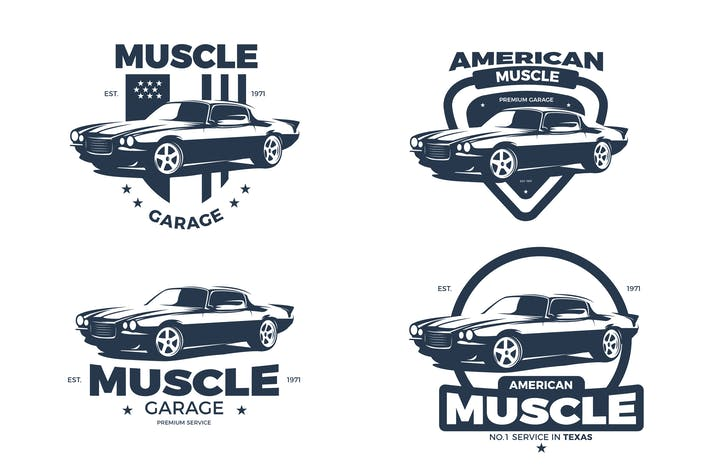 Cover Image For American Muscle Car Logos