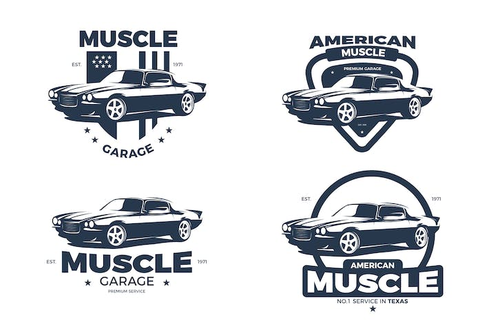 American Muscle Car Logos By Andrewtimothy On Envato Elements