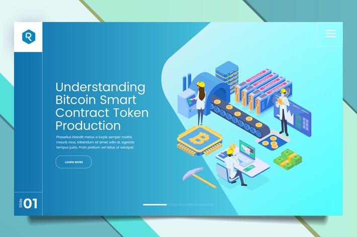 Thumbnail for Bitcoin Web Header PSD & Vector Template Vol. 05