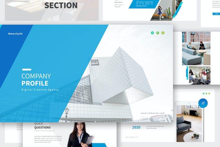 Thumbnail for Company Profile Google Slides Presentation