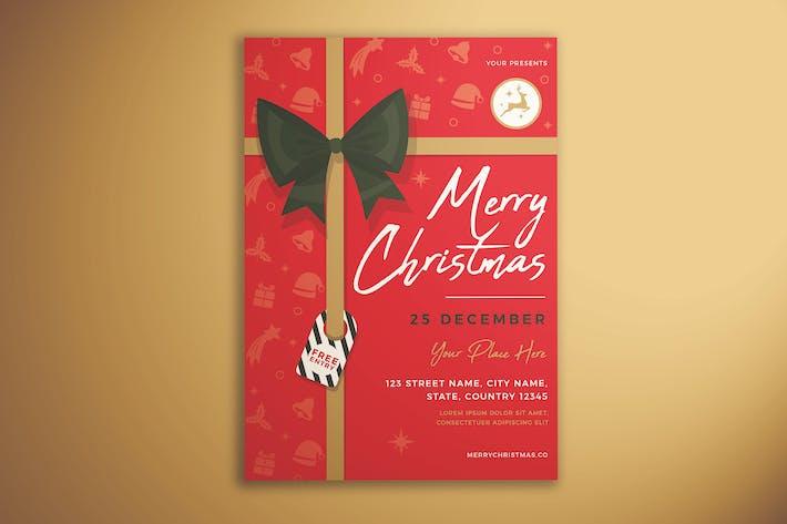 Thumbnail for Merry Christmas Invitation Flyer