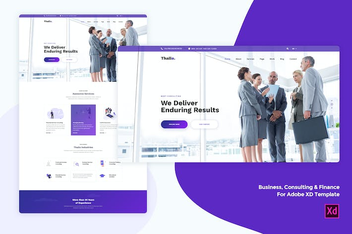 Business & Finance for Adobe XD template