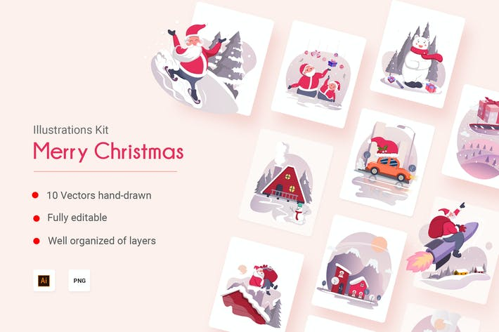 Thumbnail for Merry Christmas Vectors