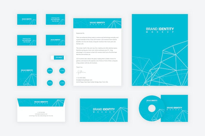 Thumbnail for Brand Identity Set: Network Polygon for Adobe XD