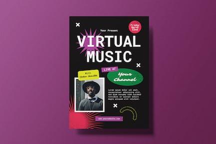 dépliant musique virtuelle