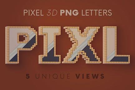 Pixel - 3D Lettering