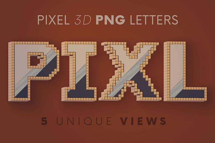 Pixel - 3D-Beschriftung