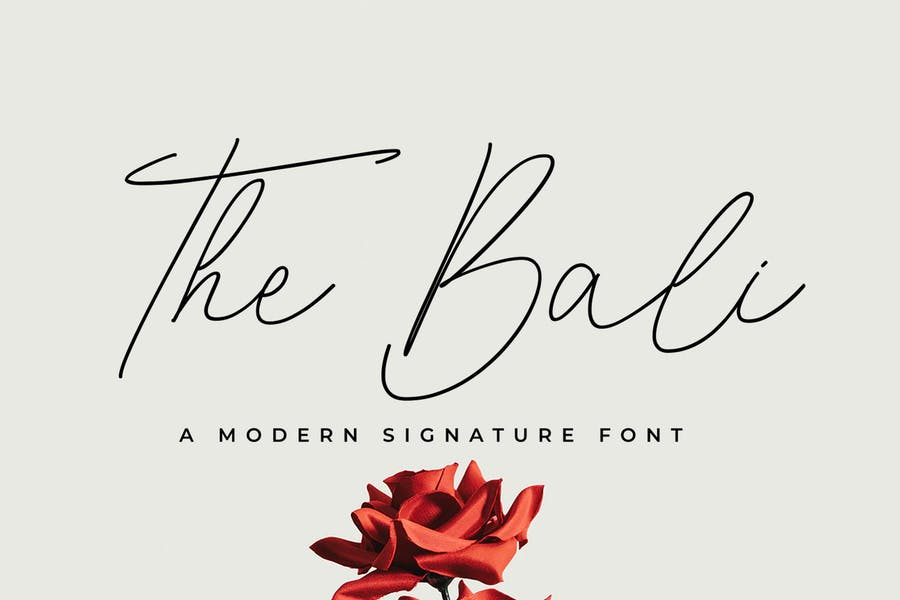 The Bali Signature Font