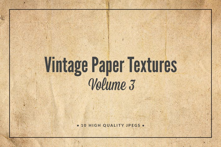 Cover Image For Vintage Paper Textures Volume 3