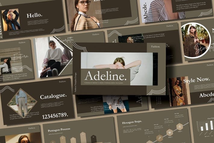 Cover Image For ADALINE - FASHION  Keynote Template