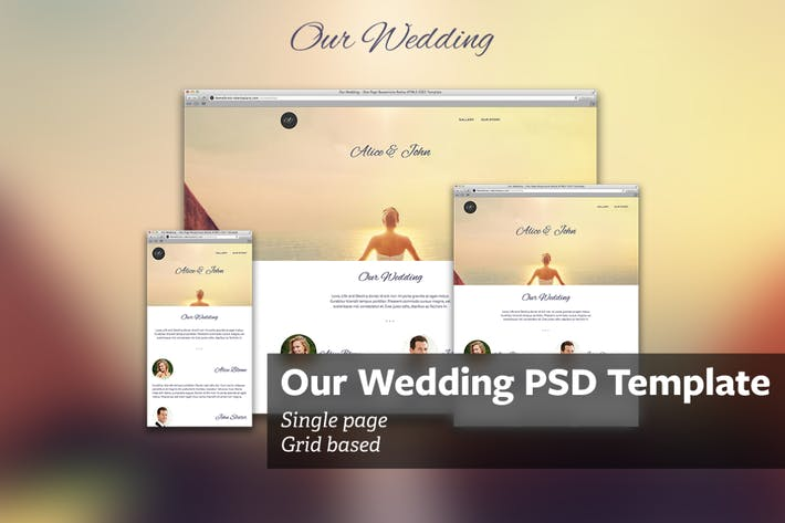 Cover Image For Our Wedding - PSD Template