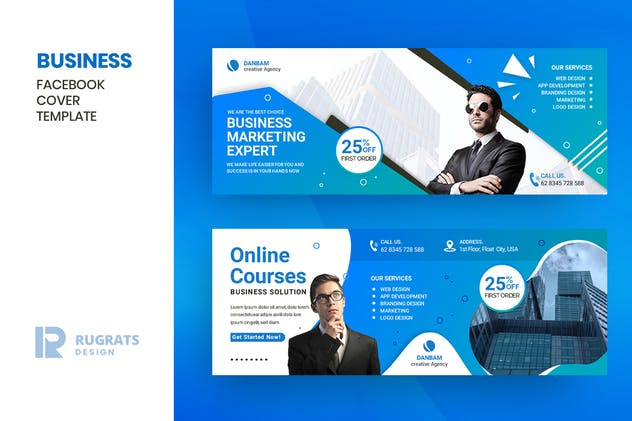 Business r1 Facebook Cover Template - product preview 0