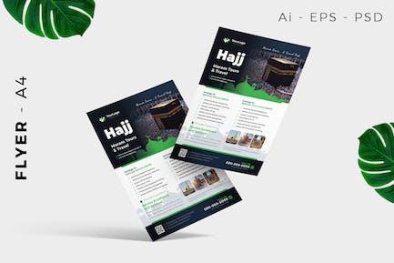 Hajj Umrah Flyer Design