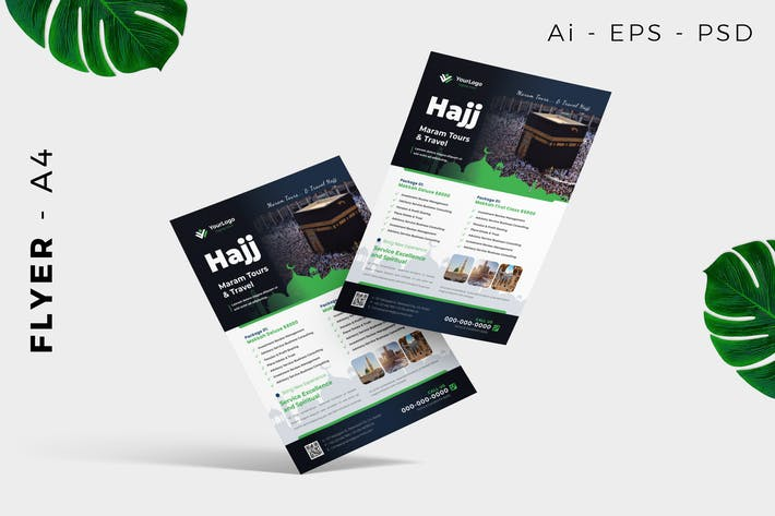 Hajj Umrah Flyer Design