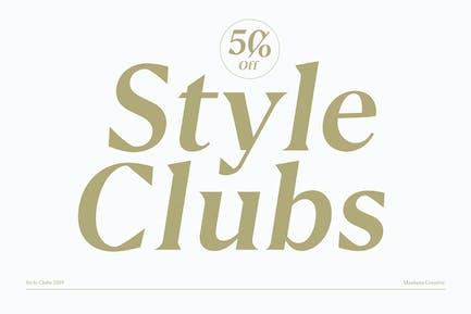 Style Clubs Con serifa