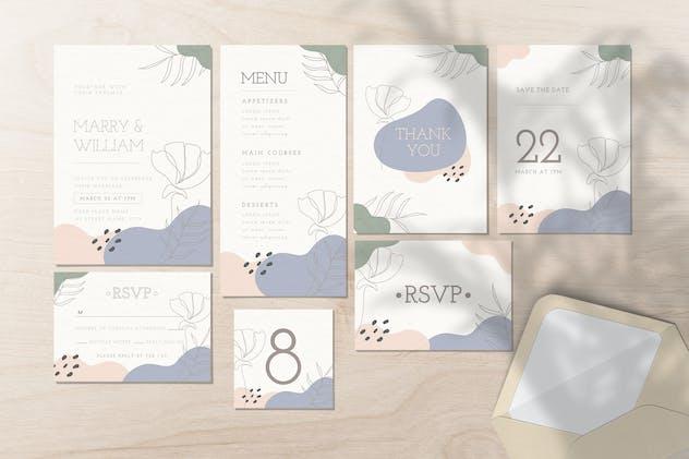 Wedding Invitation Set - Organic Shape Style