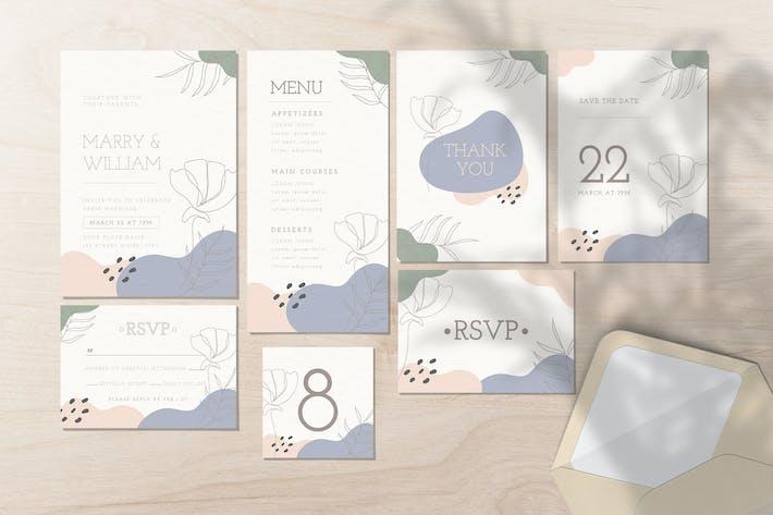 Thumbnail for Ensemble d'invitation de mariage - Style organique