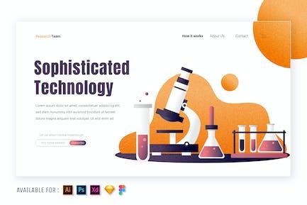 Chemical Laboratory - Web Illustration