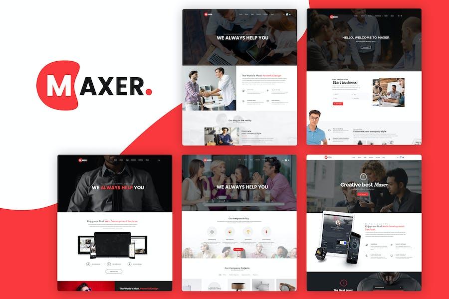 Maxer - Creative Multipurpose Business Template