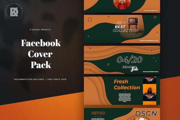 Thumbnail for Orange Facebook Cover Pack