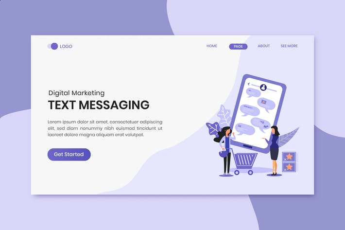 Thumbnail for Text Messaging Marketing Landing Page