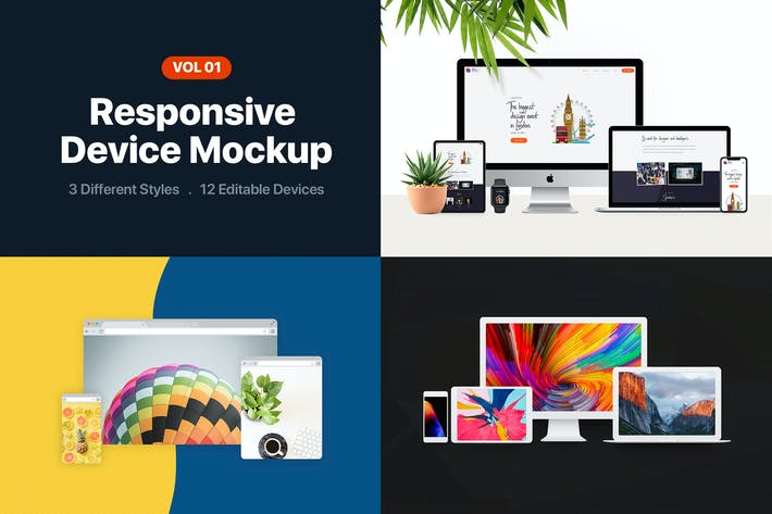 Thumbnail for Responsive Device Mockup Vol 1.0