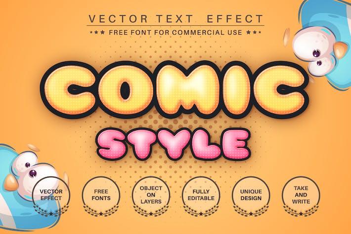 Юмор комикс - редактируемый текстовый эффект стиль шрифта