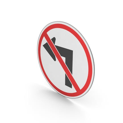 Verkehrszeichen Keine Linkskurve