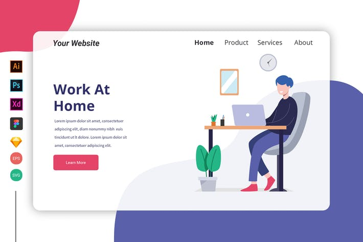 Thumbnail for Work at Home - Landing Page