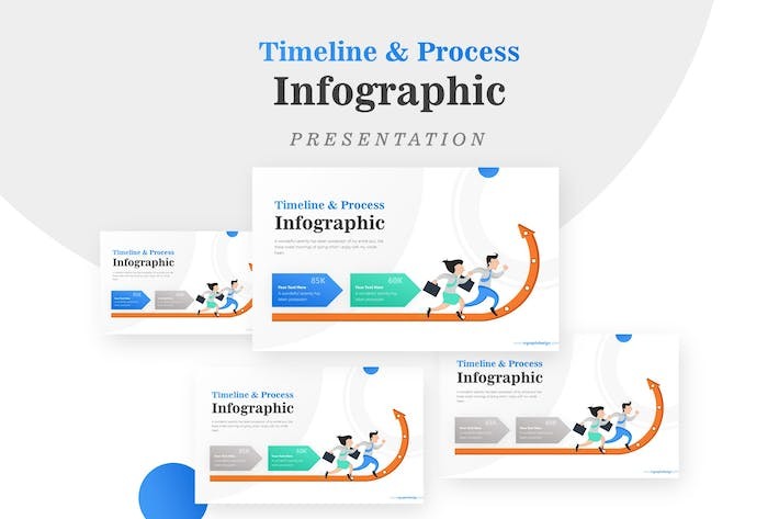Thumbnail for Growth Arrow Pointing Up Process Infographic