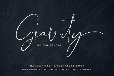 Gravity - Modern Signature Font