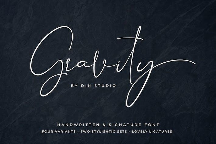 Thumbnail for Gravity - Modern Signature Font