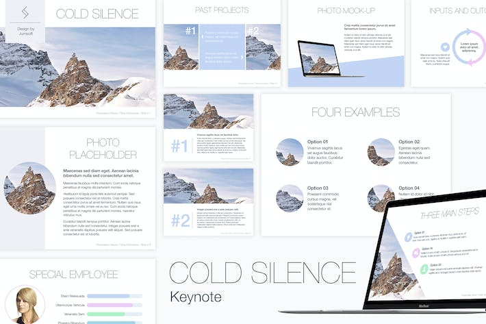 Thumbnail for Cold Silence Keynote Template