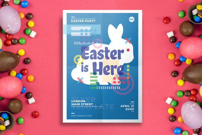 Cover Image For Easter Flyer Template